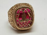 Vintage Original Rare Soviet Russian Olympic 583 Gold Ring 80 Ussr Size 17.5