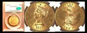 1886-s 10 Ms62 Pcgs/cac-only 444 Finer Liberty Head Eagle