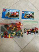 Lego City 4x4 Fire Truck 4208 And 4427 Buggy Sets 100 Complete