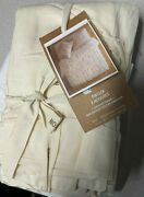 West Elm Pintuck King Sham Natural New With Tags Organic Cotton