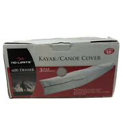 Kayak/canoe Cover No-limits 600 Denier Fabric Zip Closure Fits 13 Ft. Boat