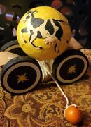 1992 Briere Cow Jumped Over The Moon Pull Toy