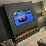 Electric Fire Sf2000 -80inch 1/2or 3sided Hd Panoramic Glass - Media Wall Fires