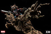 Xm Studios Gotg Rocket And Groot 1/4 Scale Figure Statue Brand New Us Seller
