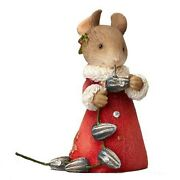 Heart Of Christmas Mice By Karen Hahn - Mouse With Garland