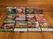 Lot Of 12 Charles Wysocki's Buffalo Terry Redlin 1000 Piece Puzzles Cobble Hill