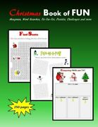 Christmas Book Of Fun Hangman Word Searches By C. Mahoney Brand New