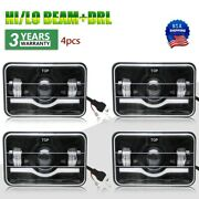 4set 4x6and039and039led Headlights For Kenworth T800 T400 T600 W900b Classic 120/132 W900l