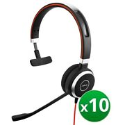 Jabra Evolve 40 Uc Mono Corded Headset With Digital Signal Processing 10-pack
