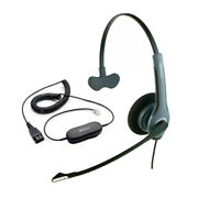 Jabra Gn2020 Mono Nc Corded Headset 2003-820-105 W/ Gn1200 Coiled Smart Cord