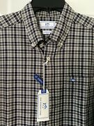 Nwt Mens Southern Tide Windsail Black Plaid Classic Fit Button Down Shirt Sz Xl