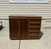 Vintage Horn Collection German Sewing Cabinet Table Mid Century Modern