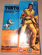 Vintage 70and039s Gabriel/marx Lone Ranger Tonto Action Figure Boxed 100 Complete