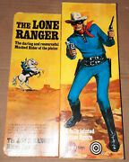 Vintage 70and039s Gabriel/marx Lone Ranger Variant Action Figure Boxed 100 Complete