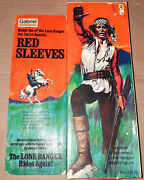Vintage 70and039s Gabriel/marx Lone Ranger Red Sleeves Action Figure Boxed And Complete