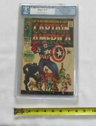 Captain America 100 1968 Pgx 6.5 Fine+ Ow/white Pages- Key 1st Issue