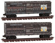 Micro-trains Mtl N-scale Northern Pacific/np Stock Cars 'pig Palace' Weathered