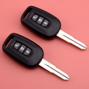 2pc Remote Key Fob 3 Button 433mhz Id46 Chip Fit For Chevrolet Captiva 2008-13