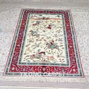 Yilong 4and039x6and039 Handwoven Silk Rug Hunting Animal Tapestry Classic Carpet Mc539a