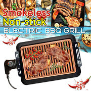 Barbecue Grill Electric Smokeless Portable Bbq Party Kitchen Healthy Non-stick