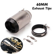 160mm Motorcycle Scooter Exhaust Tips Atv Short Muffler Tail Tube Universal 60mm