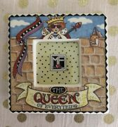 Vtg Rare Mary Engelbreit Ceramic Mini Picture Frame Queen Of Everything Andcopy1995