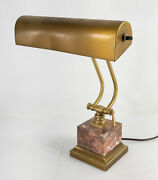 Vintage Modern House Of Troy Brass And Bronze Piano Bankers Desk Lamp