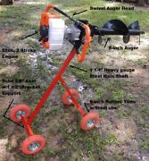 Mobile Post Hole Digger W/ 8 Auger