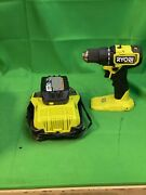 Used Ryobi Impact Drill/driver P197 With Battery And Charger