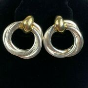 Airess Sterling Silver Gold Wash Puffy Modernist Statement Designer Earrings