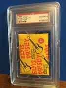 1956 Topps Elvis Presley Unopened Wax Pack Graded A Psa 6 Ex-nm Only 1 On Ebay