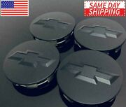 Studded Matte Black Wheel Center Caps For Chevy Silverado Suburban Tahoe 3.25 4x