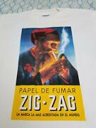 Vintage 90s Zig Zag Rolling Papers T Shirt Drugs Weed Tobacco Cigarette Medium