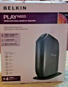 Belkin Play N600 Wireless Dual-band N+router F7d8302 New