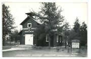 Rppc Community Church Of Boulder Junction Wi Wisconsin Real Photo Postcard