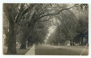 Rppc Unidentified Park Mall Lawn Manchester Vt Vermont Real Photo Postcard