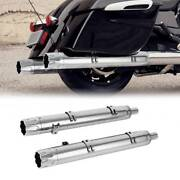 Chrome Muffler Exhaust Pipes Fit For Motorcycle Indian Vintage Models 2014-2018