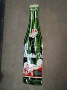 Porcelain Mountain Dew Enamel Sign Size 45 X 11 Inches Pre-owned
