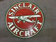 Porcelain Sinclair Enamel Sign Size 30 Inch Double Sided