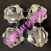 Set4gmc Sierra Slt 2500 Oem Wheel Center Caps 2017-2019 Chrome 23130101