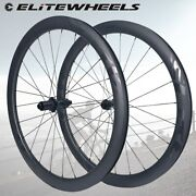 New Elite Decal Road Disc Carbon Wheels 45mm Width Cyclocross Road Cycling