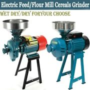 Electric Grain Grinder Feed Mills Wet Dry Cereals Rice Coffee Wheat Corn Mills