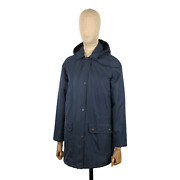 Barbour Blue Whirl Waterproof Hooded Jacket Size Uk 10 Usa 6