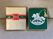 Vintage Lenox China 1988 Baby's First Christmas Ornament Rocking Horse