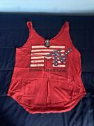 Womens Mtv Red Tank Top Size M ☄️