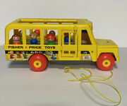 Fisher Price Play Family School Bus 192 Vintage 1965 Little People