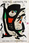 Joan Miro, Young Artists '73, Lithograph Poster