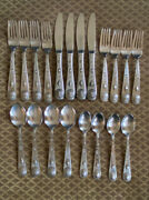 1847 Rogers Bros 20 Pc Set Taos Southwestern Concho Stainless Flatware Vguc