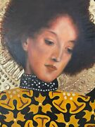 Gustav Klimt Painting Signed And Stamped Hand Carved