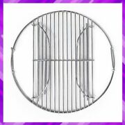 Grill Grate Stainless Steel Charcoal Cooking Replacement With Hinge Grillvana